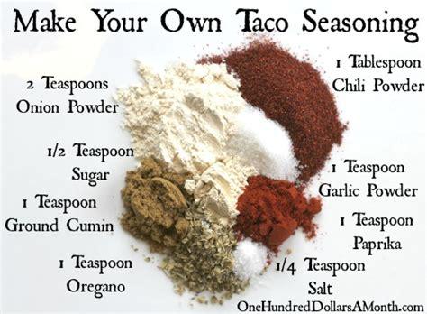 easy kitchen tips taco seasoning recipe
