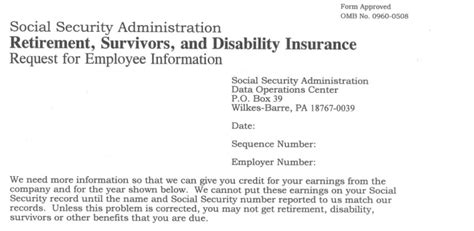 Template Letter For Social Security Numbers On Credit Reports Don S Notepad Official Ssa L2765 C1 Social Security