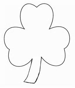 shamrock template st patricks day crafts print your finger paint shamrock
