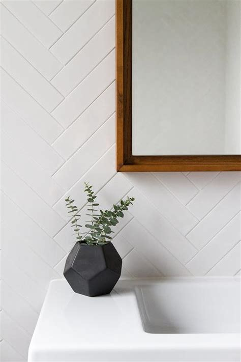 Bathroom Tile White by White Herringbone Bathroom Tiles Modern Bathroom