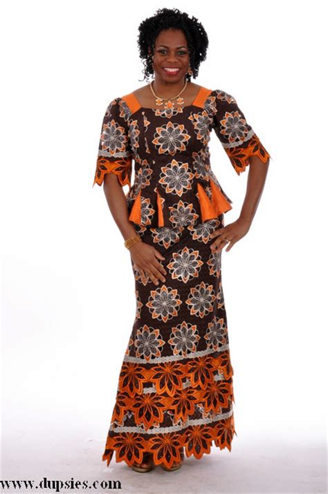 Wst 7268 Ethnic Dress Brown dupsie s traditional clothing clothes