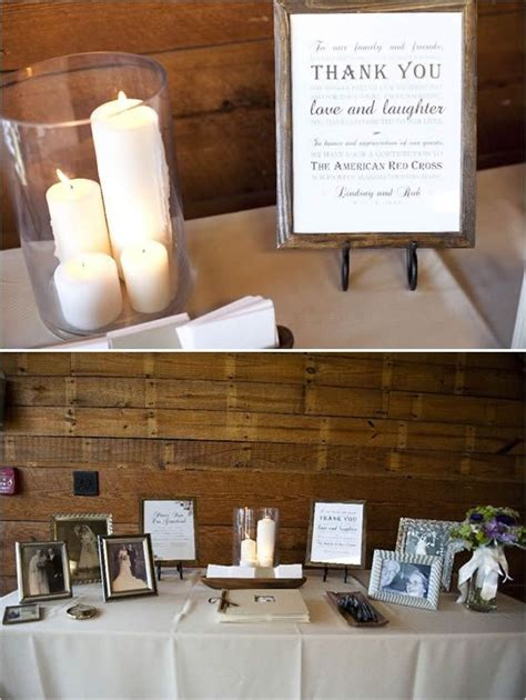 memorial table for funeral guest book and memory table combined really like the set