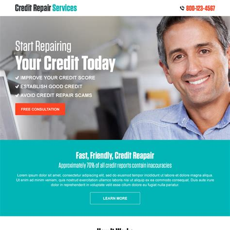 Credit Repair Website Template Free landing page design templates to improve your presence