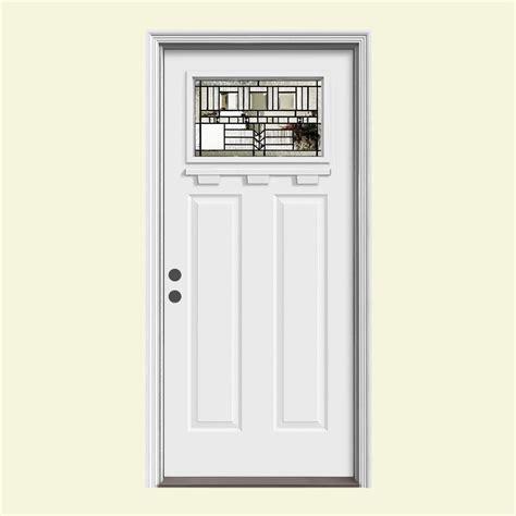 Craftsman Door Dentil Shelf by Jeld Wen 37 438 In X 81 75 In 1 Lite Craftsman Oak Park