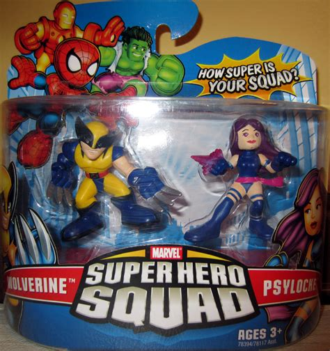 Figure Transformers Shs wolverine and psylocke squad figures