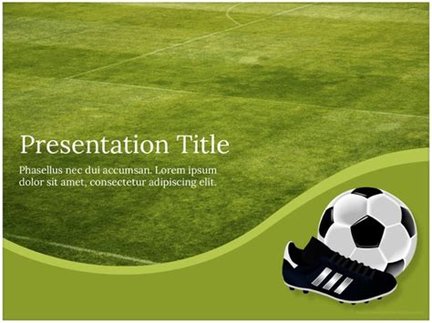 free football powerpoint template football template free