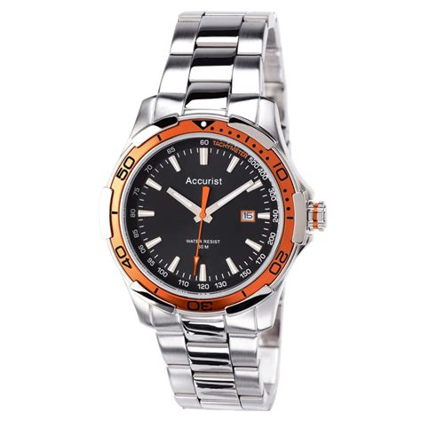 mens accurist stainless steel mb9070b accurist