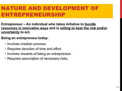 Is Mba Necessary To Become An Entrepreneur by Introduction And Nature Of Entrepreneurship
