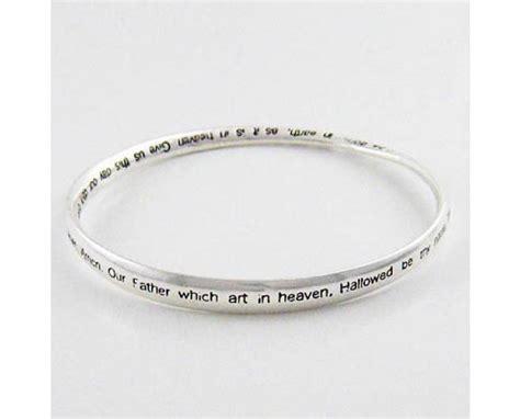 christian lord s prayer silver bangle bracelet