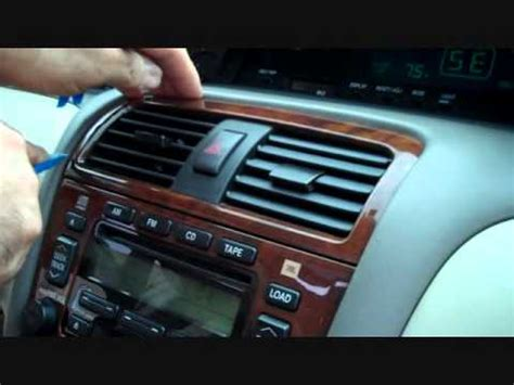 security system 1998 toyota camry instrument cluster toyota avalon car stereo removal 2000 2003 youtube