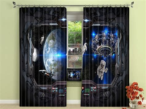 space cool pattern print teen boys room blackout curtains