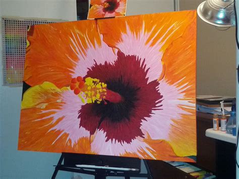 acrylic painting classes calgary abstract flower painting ideas www pixshark images