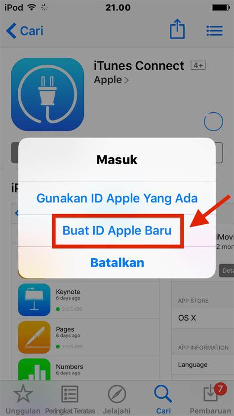 cara membuat apple id app store cara membuat apple id baru indonesia store tanpa kartu