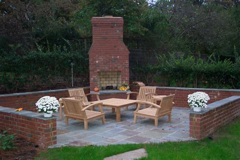 outdoor brick fireplace ask the landscape guy