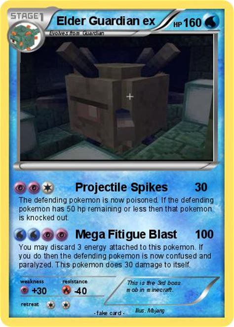 minecraft guardian coloring pages pok 233 mon elder guardian ex projectile spikes my pokemon