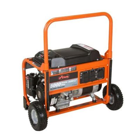 ariens 5 000 watt gasoline powered manual start portable