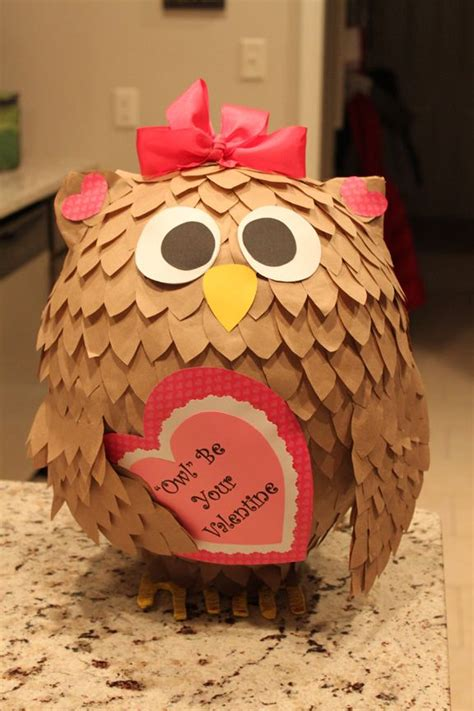 cool valentines box ideas box quot owl quot be your paper mache