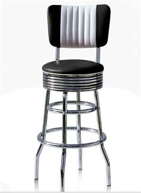 American Diner Style Bar Stools by Oralndo Diner Retro American Style Kitchen Bar Stool