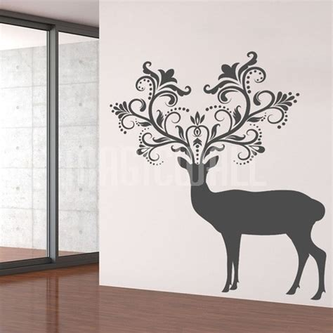 deer wall sticker animal wall decals 2017 grasscloth wallpaper