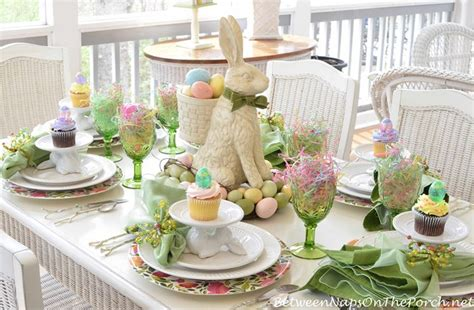 Table Settings Ideas A Spring Table Setting With The Easter Bunny