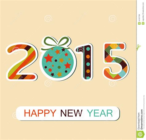 gsc new year 2015 new year 2015 background stock vector image 44187708