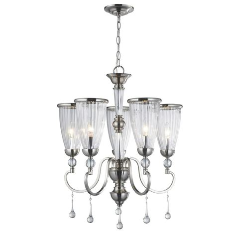 chandelier l shades home depot brushed nickel chandelier with shades roselawnlutheran
