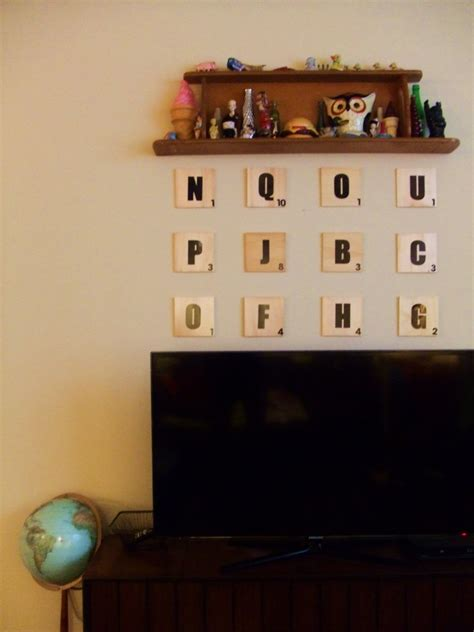 weekend diy jumbo scrabble tile wall art  easy