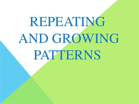 pattern powerpoint kindergarten repeating and growing patterns