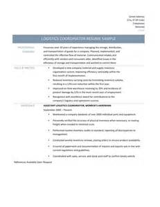 Computer Programs To Know For Resume Logistics Coordinator Resume Samples Tips And Templates