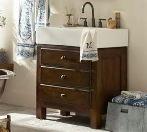 Pottery Barn Mason Vanity Mason Single Sink Console Rustic Mahogany Finish Rustic