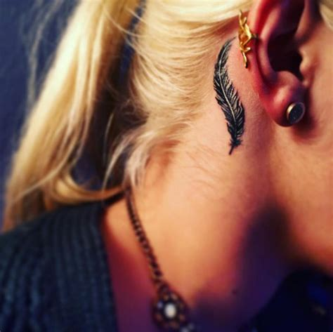 california tattoo behind ear best 25 small feather tattoos ideas on pinterest