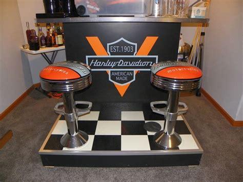 harley davidson bar table and chairs harley davidson size bar cave garage 2 attached