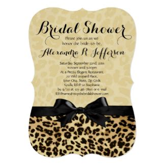 Leopard Print Wedding Invitations by Leopard Wedding Invitations Announcements Zazzle