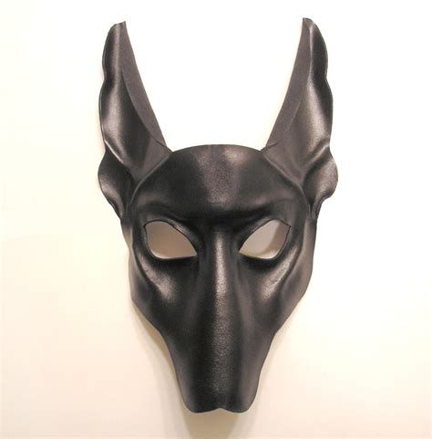 leather mask black jackal leather mask by teonova on deviantart