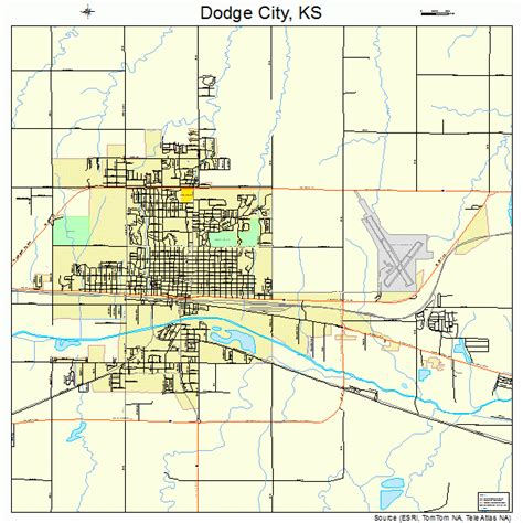 dodge city ks zip map dodge city kansas kansas map