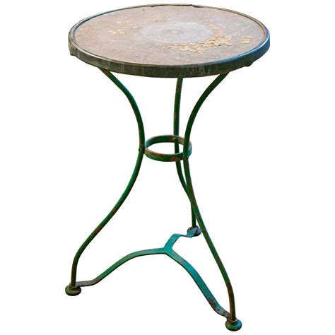 Vintage Marble Bistro Table Vintage Iron Bistro Table With Marble Top For Sale At 1stdibs