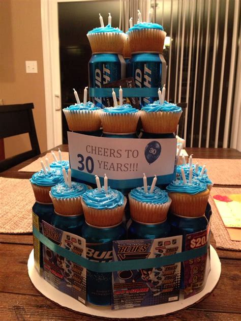 beer can cake cheers to 30 years beer can cake pinteres