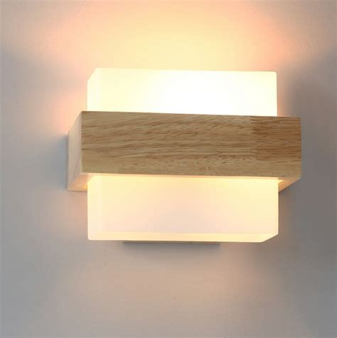 Glass Bedroom Wall Lights Aliexpress Buy Creative Wooden Glass Wall Sconce