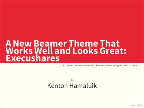 beamer themes for powerpoint hamaluik com better beamer themes