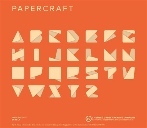 Origami Typeface - this is made to look simple and works much type