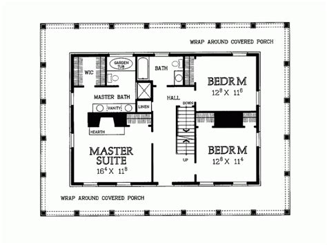wrap around porch floor plan home
