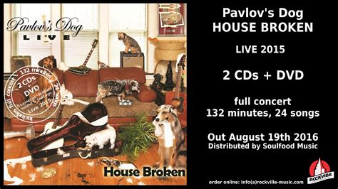 dog house broken pavlov s dog house broken live 2015 2cds dvd trailer youtube