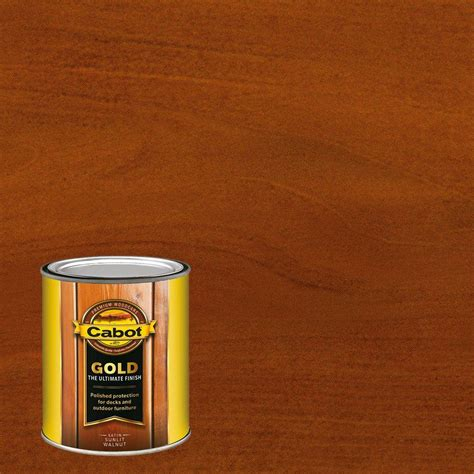 cabot  qt sunlit walnut gold oil exterior deck varnish