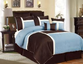 chocolate brown and blue comforter sets image blue and chocolate comforter sets