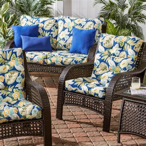 Patio Chair Replacement Cushions 46 X 21 44 quot x 21 quot outdoor highback chair cushion cushions direct