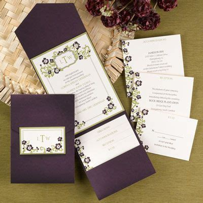 eggplant pocket wedding invitations 17 best images about color combo plum and slate and