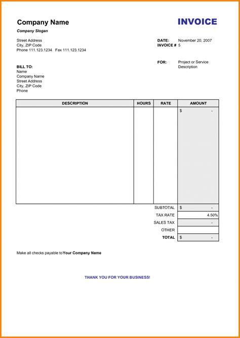 billing invoice 8 billing invoice sles blank simple bill