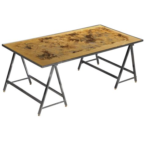 trestle base coffee table at 1stdibs