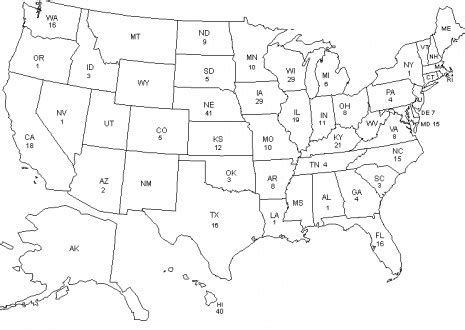 coloring book united states map america coloring
