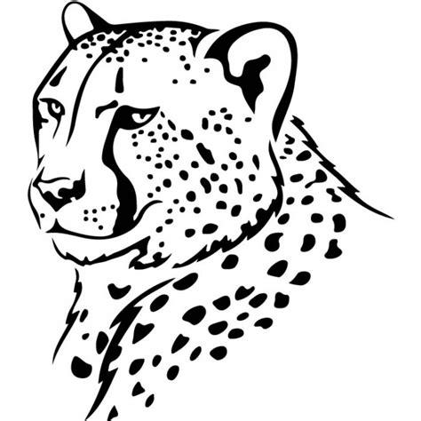 Cheetah Print Wall Stickers cheetah head outline wall sticker animal wall art